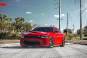 Candy Red Dodge Charger SRT Boasts Custom Vented Hood