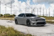 Custom Gray Dodge Charger Looking Mean with Velgen Wheels