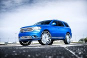 Baby Blue Dodge Durango Beautified by DUB