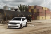 White Dodge Durango Shows Off Custom Bronze Wheels by Velgen
