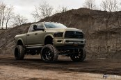Custom Lifted Dodge Ram on Black Forged Custom Wheels by Fuel