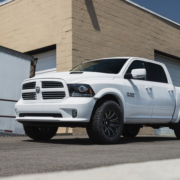 White Dodge Ram 1500 With Custom Headlights Photo By Fuel Offroad
