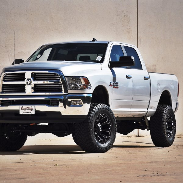 White Dodge Ram 2500 With 6 Inch Lift Kit Photo By Fuel Offroad