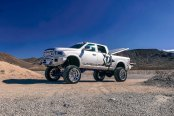 Silver Bullett: Lifted Dodge Ram with Chrome Mesh Grille
