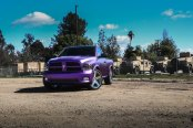Sensational Matte Purple Paint on Ram Making it Stand Out