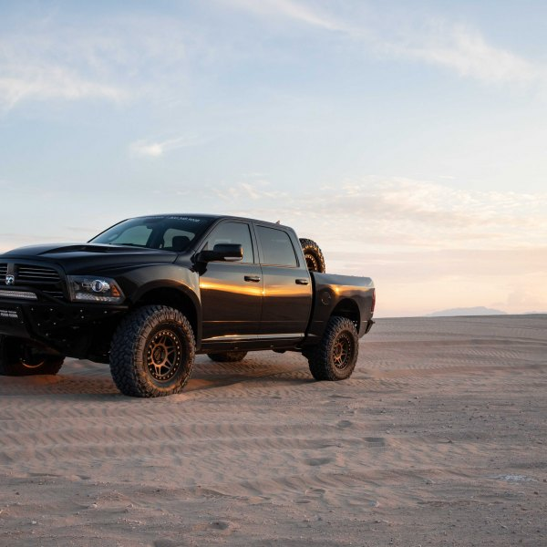 a0da2c3405bf3 Front Bumper with LED Light Bars on Black Dodge Ram - Photo by Jimmy Crook