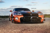 Orange Dodge Viper Taken to Another Level with Custom Parts and 20 Inch Strasse Wheels