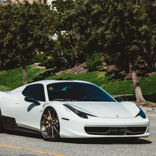 Custom White Ferrari 458 Spyder With Dark Smoke Headlights   Photo By ADV.1