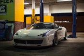 Ferrari 458 Fitted With Bolt-on Overfenders and Duck Tail Spoiler