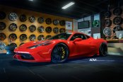 Ground Hugging Ferrari 458 WIth Perfectly Fitted ADV1 Custom Wheels