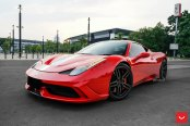 Exotic Red Red Ferrari 458 Outfitted With Vossen Wheels
