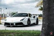 White Ferrari 488 Goes Elegant with Carbon Fiber Ground Effects