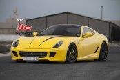 Ground Hugging Ferrari 599 in Eye-catching Yellow Color