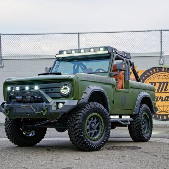 Green Ford Bronco with Go Rhino Off-Road Front Bumper - Photo by Dropstar