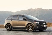 Firm and Reliable Black Matte Ford Edge