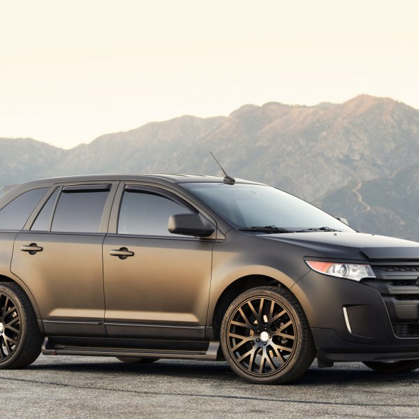 Aftermarket Front Bumper On Black Matte Ford Edge Photo By Tsw