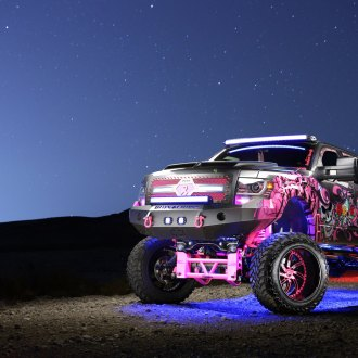 F150 With a Massive Lift and Crazy Pink Graphics