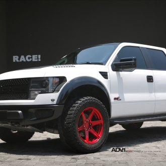 White Raptor on Red ADV.1 Offroad Wheels