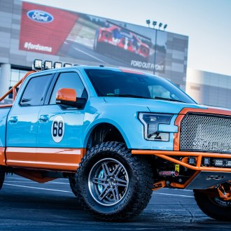 Gulf Racing Livery on Ford F150 Truck with ADV.1 Wheels