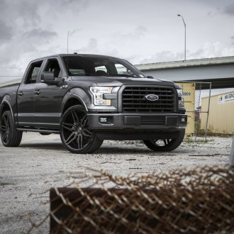 Black Ford F-150 Rocking a Set of DUBs