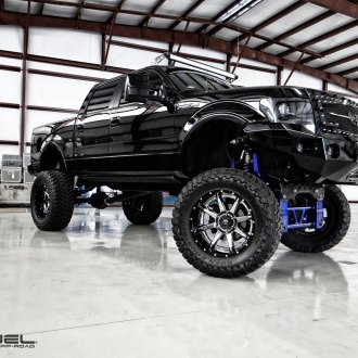 Black F150 With a Giant Lift and Fuel Off-road Wheels