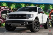 Bossy Custom White Ford F-150 Featuring a Royal Lift