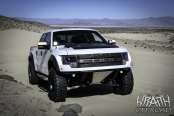 White F-150 Raptor Gone Wild with Matte Black Accents and Off-Road Black Rhino Wheels