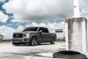 a very different proposition: gray f-150 rocking custom ground effects