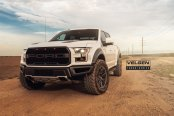 White Ford F-150 Raptor Accentuated with Custom Black Elements