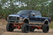 F250 4x4 With a Tall Lift on Nitto Extreme Terrain Tires