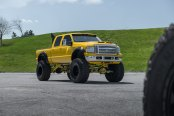 Insane Monster Truck - Yellow Ford F-250 Super Duty on Huge Wheels