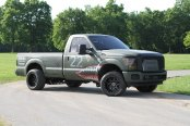 Project Truck: Lifted Ford F-250 Boasting a Custom Paint and Aftermarket Parts