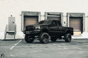 All Black F350 on 22 inch Fuel FFC37 Wheels
