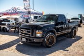 Lowered Super Duty Street Truck Put on Fuel Rims With Low-profile Tires