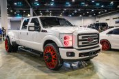 Big Trucking - Fully Custom Ford F350 on Red Custom Painted Fuel Wheels