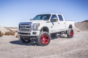 White Lifted Ford F-350 Fitted with Superb Truck Accessories