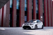 The Details That Changes It All: Carbon Fiber Vented Hood Enhancing White Ford Focus