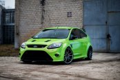 Lime Green Ford Focus Reworked with Aftermarket Exterior Goodies
