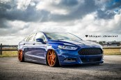 Slammed Ford Fusion on Insane Rims by Black Diamond