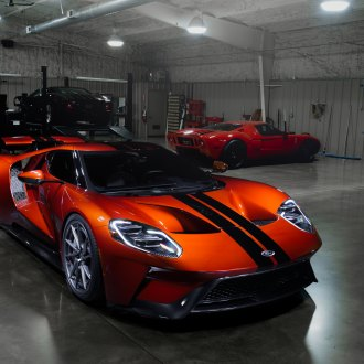 Orange Ford GT with Carbon Fiber Front Bumper - Photo by Anrky Wheels