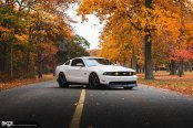 Amazing Color Combo: White Mustang With Black Accents and Niche Custom Wheels