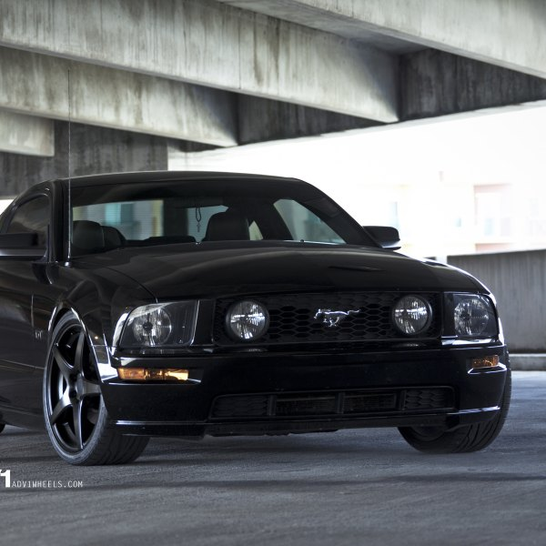 Black Ford Mustang Gt With Custom Front Bumper Photo By Adv