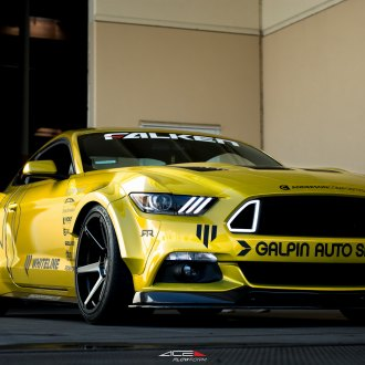 Galpin Auto Sports Restyles Yellow Ford Mustang