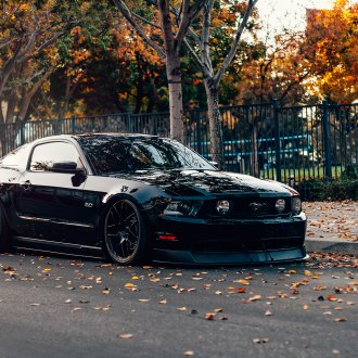 Stealthy Black Stanced Ford Mustang 5.0 Customized to Impress