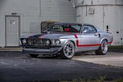 Retro Ford Mustang Boasting Gray Paint and Forgeline Rims