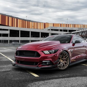 Bronze Rohana Wheels Add Aggressiveness to Red Ford Mustang
