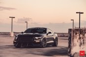 Wild Thing You Make My Heart Sing: Black Mustang 5.0 Customized and Shod in Vossen Rims