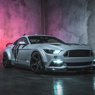 Aftermarket Body Kit On Gray Ford Mustang Photo By Ace Alloy Wheels