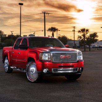 Lifted Red GMC Sierra Denali With Custom DUB Wheels