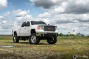 Shiny Chrome Fuel off-road Wheels on Lifted GMC Sierra 2500HD